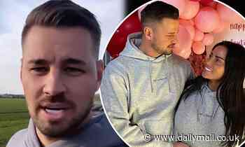 Katie Price's beau Carl Woods asks if 'anyone would like to call the police' as they walk their dogs
