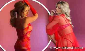Megan Barton Hanson wears revealing red outfits for Instagram photos