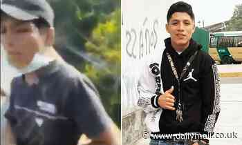 Tragic moment 19-year-old Peruvian is thrown a bridge in Colombia