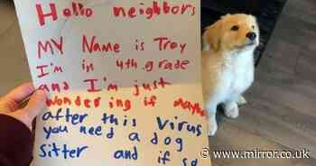 Boy, 10, writes heart-melting letter to his neighbours asking to walk their dog