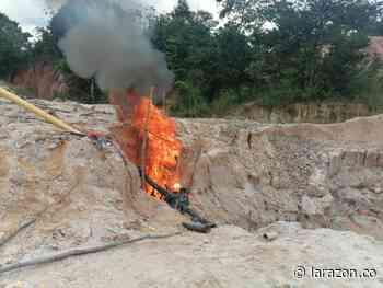 Policía intervino dos minas ilegales de extracción de oro en Planeta Rica - LA RAZÓN.CO
