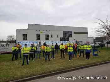 Les chauffeurs de TLR Robinet, à Oissel, en grève pour obtenir une meilleure rémunération - Paris-Normandie