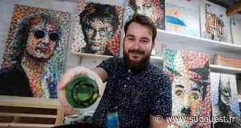 Vidéo. Landes : à Soustons, un jeune peintre sans pinceaux qui a de la bouteille - Sud Ouest
