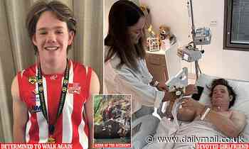 Teenager who was left paralysed reveals the reason he's determined to walk again