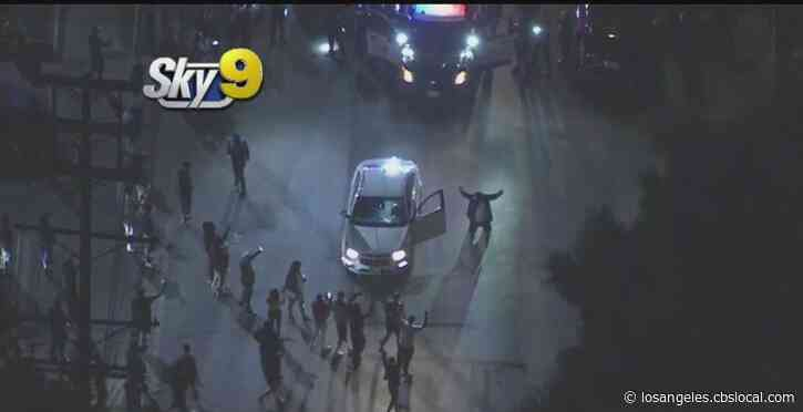Crowd Gathers, Driver Arrested After Pursuit Ends In South LA