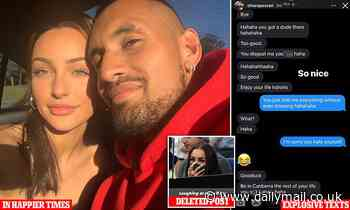 Nick Kyrgios splits with girlfriend as she hits out on Instagram