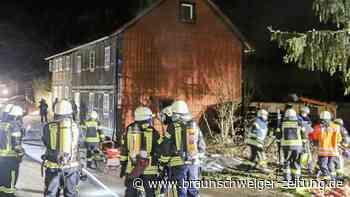 Wohnung in Fachwerkhaus brennt in Wobeck