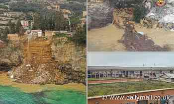 Buried at sea: Italian cliff-top cemetery collapses into the ocean