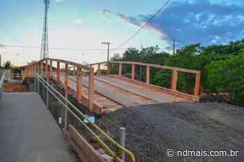 Ponte provisória sobre o rio Itajuba, em Barra Velha, é aberta - ND Mais