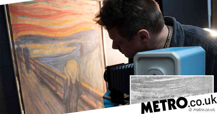 'The Scream' contains hidden message written by Edvard Munch