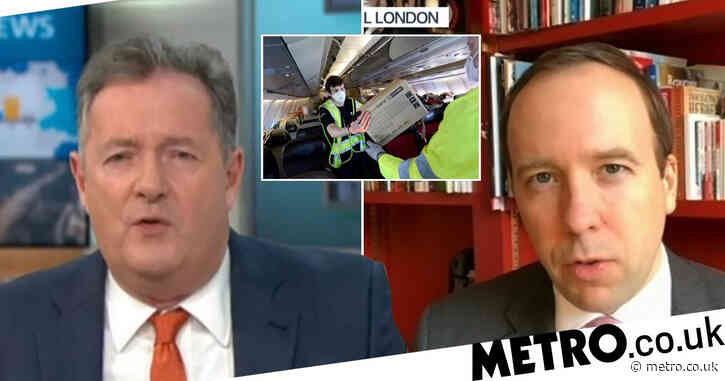 'Exasperated' Matt Hancock sighs in clash with Piers Morgan over PPE contracts