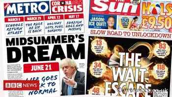 Newspaper headlines: 'Midsummer's dream' and '118 days until freedom'