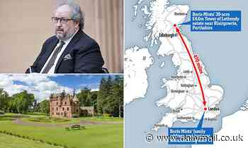 Police visit £4.6m Scottish estate of billionaire Russian oligarch, 62, after trip from London