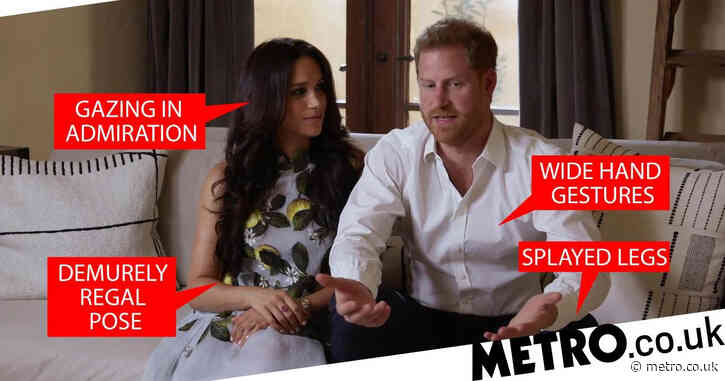 Body language expert analyses Harry and Meghan's posture as they promote podcast