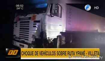 Tractocamión choca contra automóvil en ramal Ypané-Villeta - Resumen de Noticias