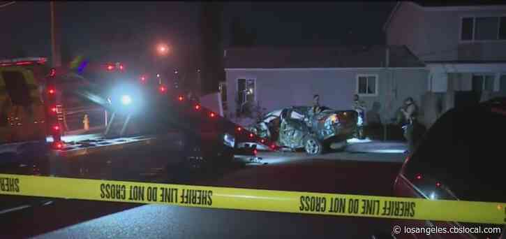 Driver Killed After Car Careens Into Paramount Home