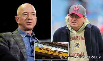 Jeff Bezos 'in talks with Washington Football Team minority owners' as they push Dan Snyder to sell