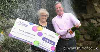 Couple finally open pink champagne they kept for 20 years hoping for lotto win