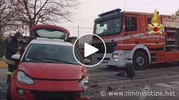 Incidente stradale a Santarcangelo di Romagna. Intevengono anche i Vigli del Fuoco - rimininotizie.net