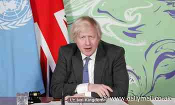 Boris Johnson defends green activists like fiancee Carrie Symonds in UN attack on climate sceptics