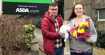 Mum unaware she was pregnant gives birth in Asda car park where baby's dad works