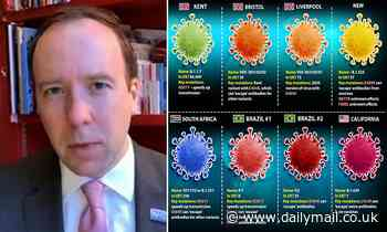 Covid UK: Matt Hancock claims cases of variants 'falling sharply'
