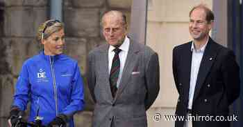 Prince Edward says family keeping 'fingers crossed' with dad Philip in hospital
