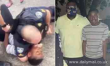 Baton Rouge police launch investigation after video shows a cop with his arm around boy's neck