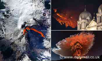 Etna erupts with a fury 'rarely seen for decades': Volcano continues its recent spectacular displays