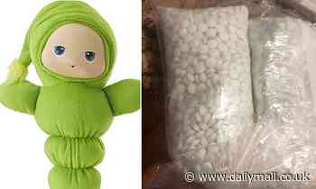 Couple find 5,000 FENTANYL PILLS inside a stuffed toy they bought for their daughter
