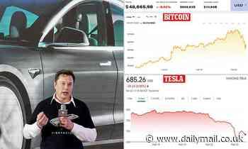Tesla shares drop 13% after Bitcoin plummets to below $50k