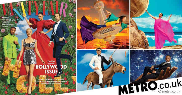Zendaya, Michaela Coel and Sacha Baron Cohen dazzle in fantasy worlds for Vanity Fair's bold Hollywood cover