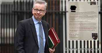 Gove defends 'astounding' letter urging voters to send election forms to him