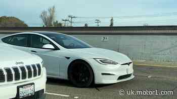 Revised Tesla Model S Plaid spotted in traffic