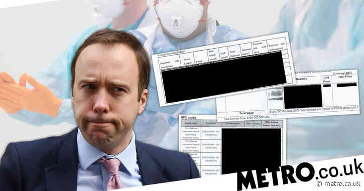 Matt Hancock's heavily redacted pandemic contracts even hide colour of NHS gowns