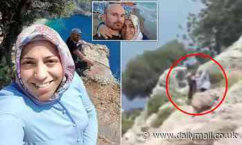 Final moments before Turkish man 'pushes pregnant wife to her death off cliff-edge'