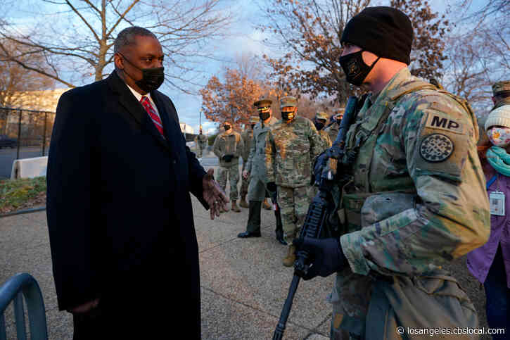 U.S. Secretary Of Defense Lloyd Austin To Visit Vaccination Site At Cal State Los Angeles