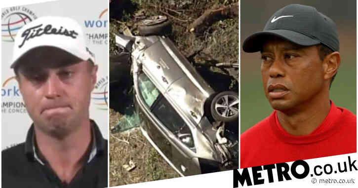 Justin Thomas 'sick to his stomach' over Tiger Woods car crash