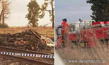 Two men dead after farming truck was smashed into by a freight train