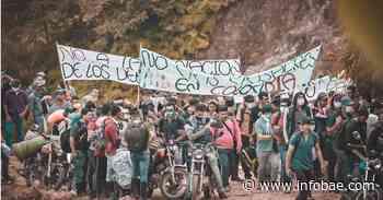 Comunidades del municipio de Hacarí insisten en retirar bases militares de la zona - infobae