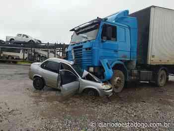 Motorista de veículo de passeio morre após colidir com caminhão, em Porangatu - Diário do Estado