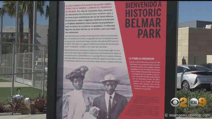 Historic Belmar Park In Santa Monica Unveils Sculpture Honoring History Of Black Community