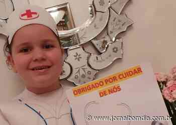 Crianças da Educação Infantil do São José homenageiam os profissionais da Saúde   Jornal Bom Dia - Jornal Bom Dia