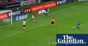 Referee accidentally blocks goal-bound shot in Mexican football match – video - The Guardian