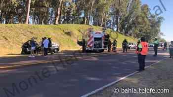 Choque en cadena en el ingreso a Monte Hermoso - Telefe Bahia Blanca