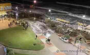 Video: por una sudestada, el agua llegó hasta la costanera en Monte Hermoso - La Nueva