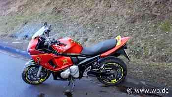 Finnentrop: Motorradfahrer stürzt in einer Linkskurve - WP News