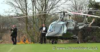The amusing reaction to Mike Ashley helicopter at Newcastle training ground