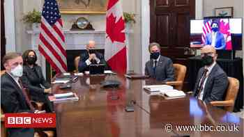 Biden holds first foreign meeting with Canada's Justin Trudeau