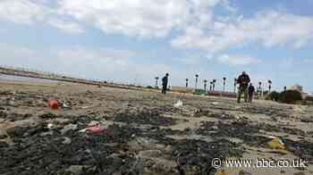 Clear-up of Israel's coastline after oil spill continues
